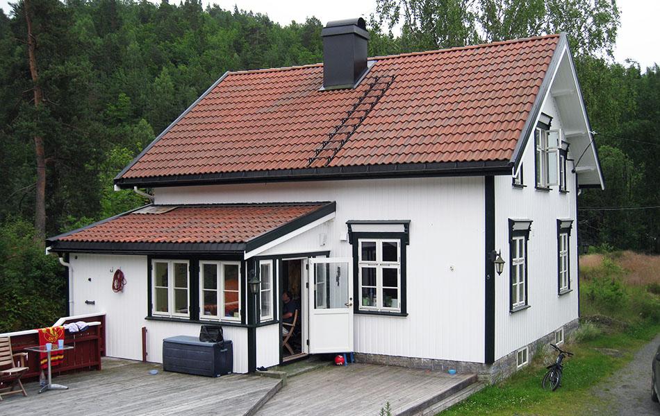 Tilbygg på hus